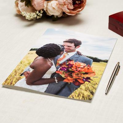 stort personligt gratulationskort bröllop a4