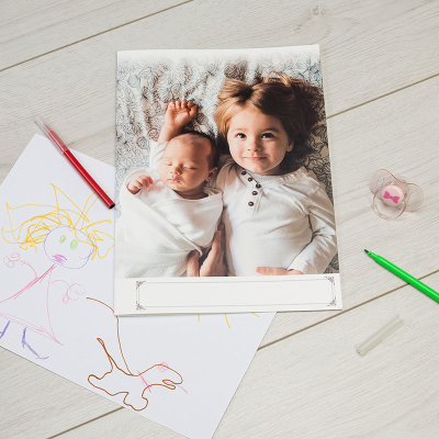 Carte format A4 avec photo enfant