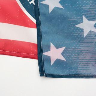 Zoom sur impression drapeau
