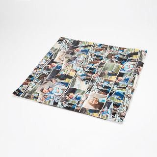 Montage photos sur housse de coussin