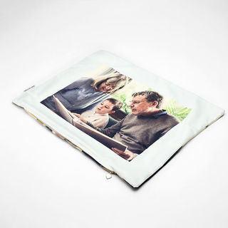 Housse de coussin avec photo de famille