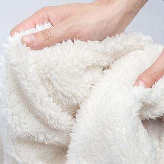 Soft fleece fabric backing detail