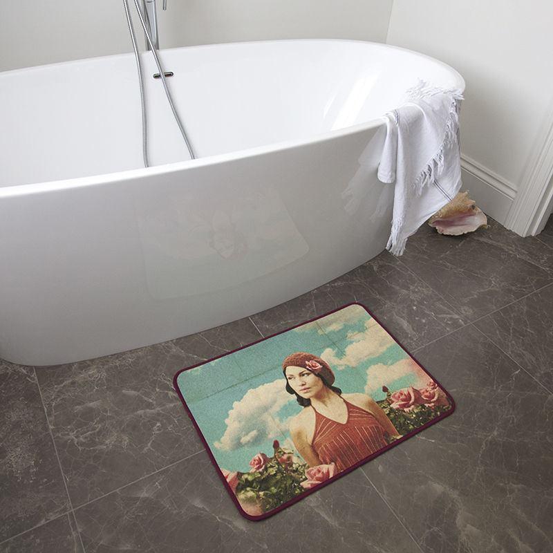 Tapis de bain personnalis impression textile de qualit - Tapis de salle de bain design ...