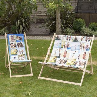 sdraio da giardino personalizzata fotografia famiglia