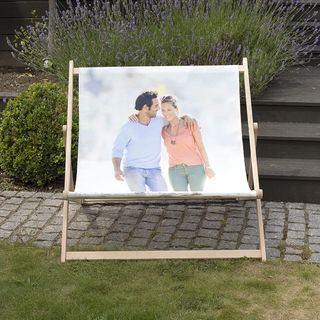 sdraio da giardino personalizzata foto coppia