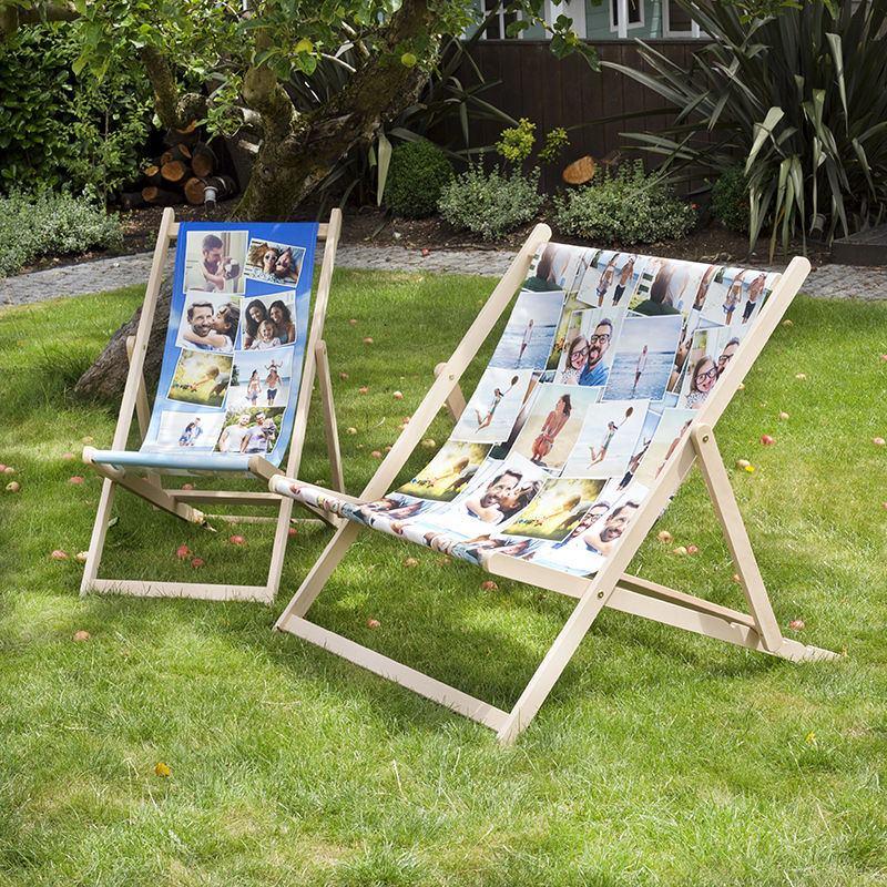 Doppel Liegestuhl bedrucken   Pärchen Liegestuhl mit Foto gestalten