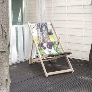 Liegestuhl mit Foto bedrucken