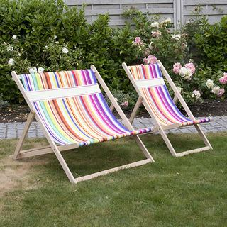 Personalised Deck Chair with stripe pattern