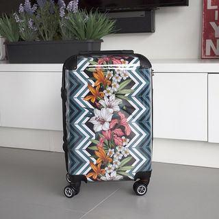 Valise avec design imprimé pour les vacances