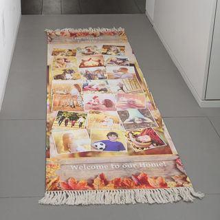 Hallway rug family montage design