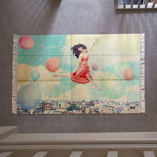 Large Photo printed Rug design