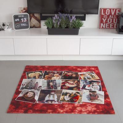 gepersonaliseerd foto collage tapijt