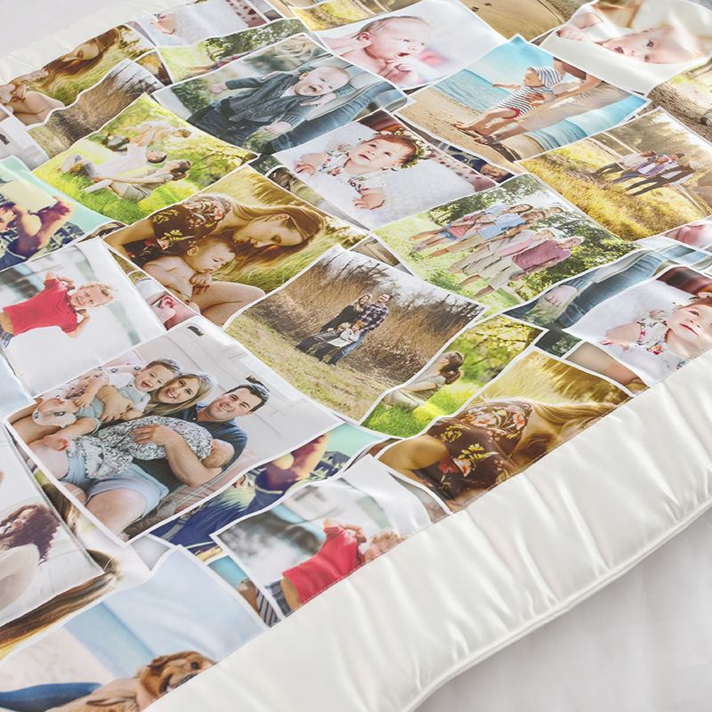 Photo Quilt Custom Made Personalised Photo Patchwork Quilt