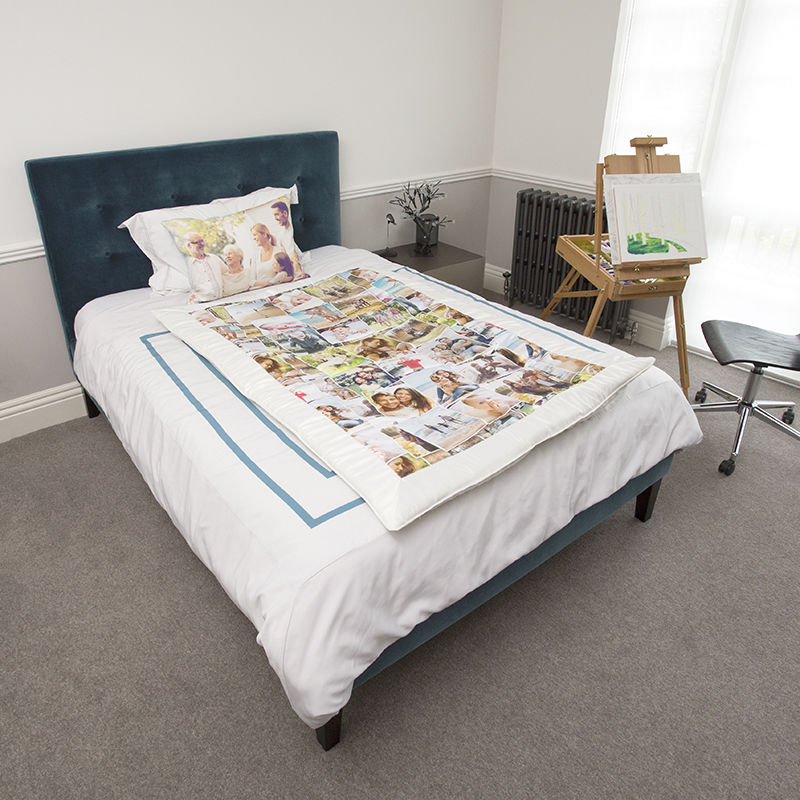 duchess satin comforter personalised with photo montage