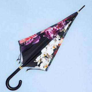 Closed custom printed umbrellas details
