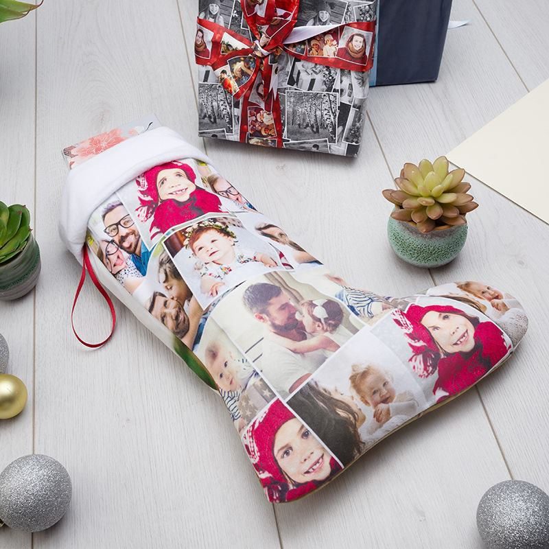 Personalized Christmas Stockings. Custom Stocking With Photo