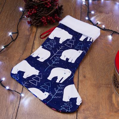christmas stocking polar bear design