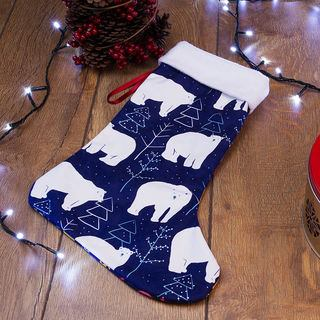 Petits ours imprimés sur chaussette de Noël