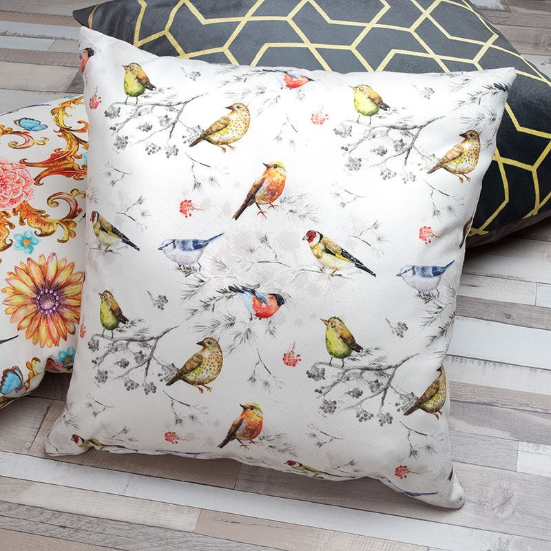 Bird Pattern personalised Luxury cushion