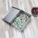 large tin for 1000 piece photo jigsaw custom printed to order