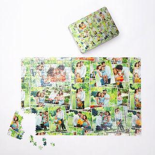 Family Photo montage design with tin 1000 piece