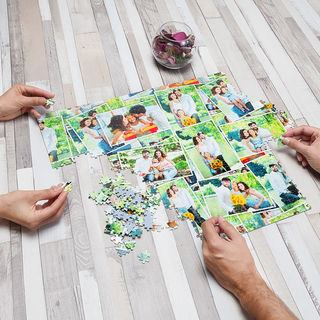 Puzzle photo montage