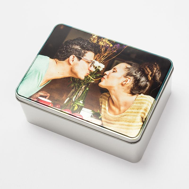 Personalised Metal Storage Tin With Photo Custom Tin Uk