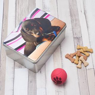 personlig kakburk med hundgodis