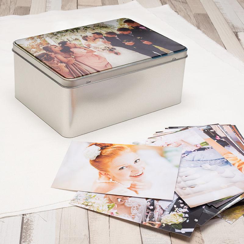 Caja de galletas personalizada cajas met licas de lata for Cajas personalizadas con fotos