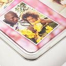 printed photo tin detail corner
