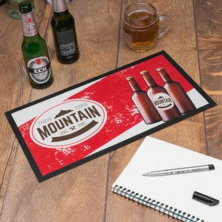Personalised Bar runners branded