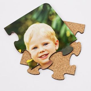 Jigsaw coaster puzzle pieces personalised photo