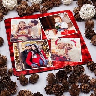 Christmas photo montage coasters