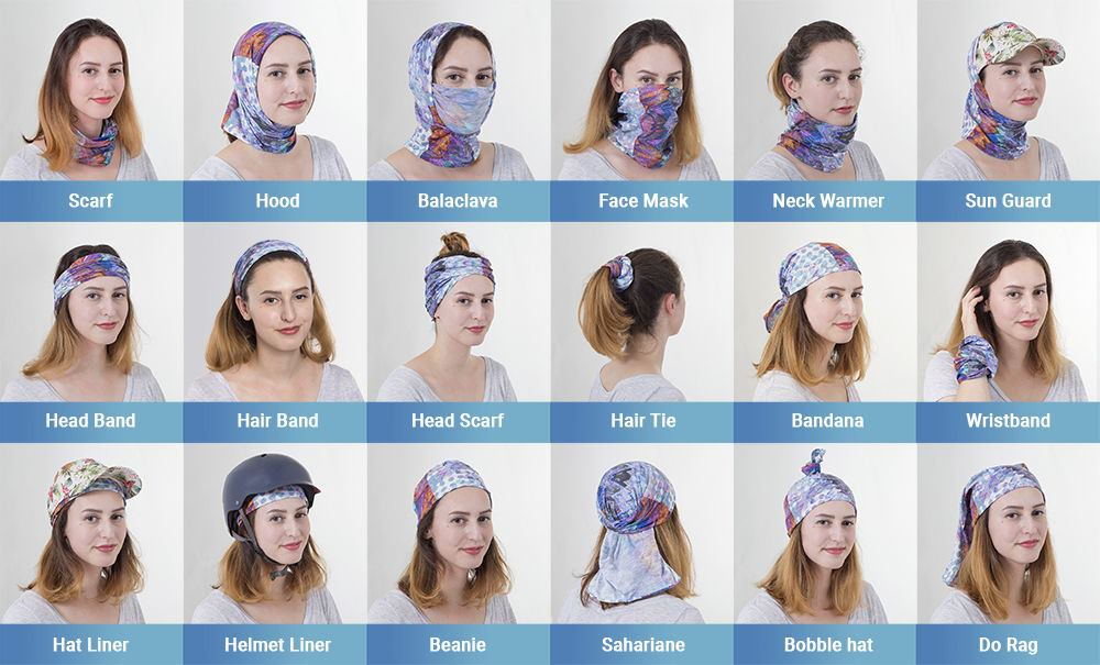 how to wear a neck tube scarf