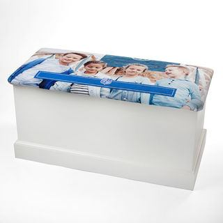 personalised toy box chest printed with family photos