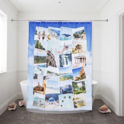 シャワーカーテン プリント