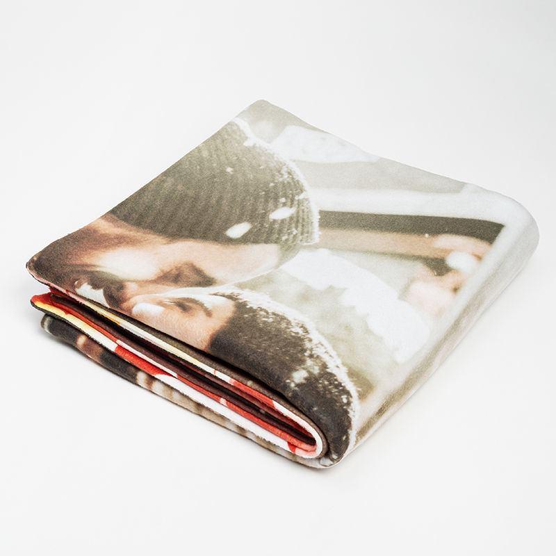 Couverture personnalis e avec vos photos impression de - Impression sur tissu maison ...