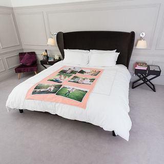 plaid personnalis avec une ou plusieurs photos 3 pour. Black Bedroom Furniture Sets. Home Design Ideas