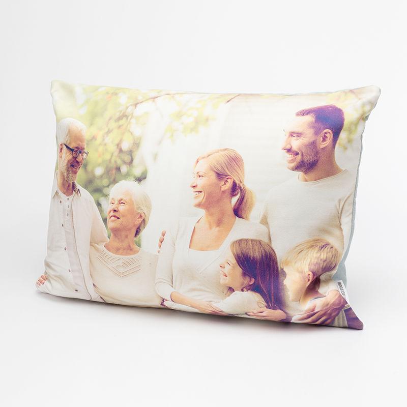 ... Rechteckiges Kissen Deluxe Mit Familienfoto ...