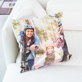 throw pillow personalised with family photo