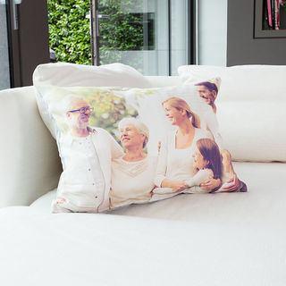 Family photo cushion large family