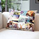 Personalized photo print cushion