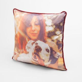 luxury silk cushions printed with dog photo for unique gift