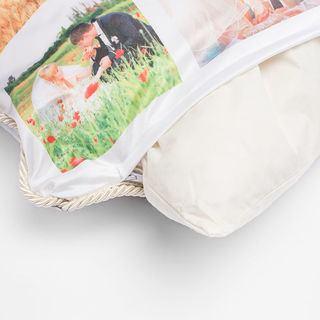 pad inside silk cushion