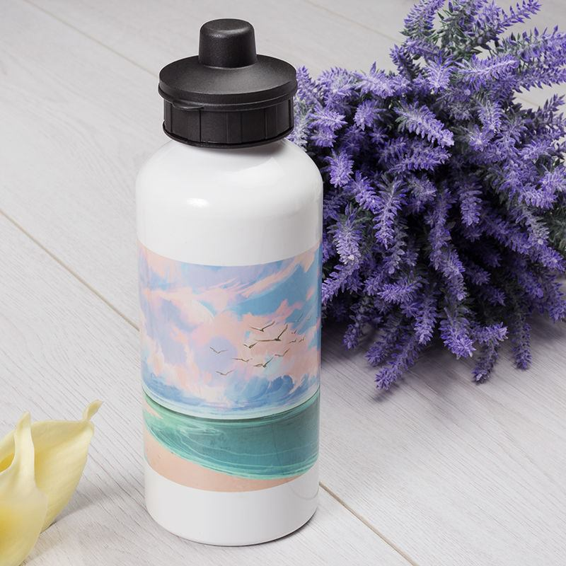 printed water bottles with plastic lids
