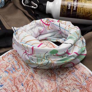 Écharpe tube imprimée avec motif