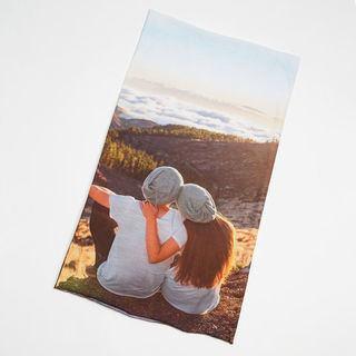 écharpe tube imprimée avec photo de couple