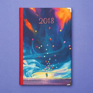 Illustration design diary 2018 year