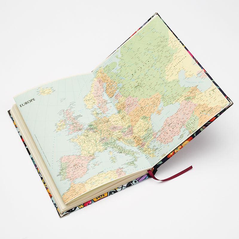 agenda personalizzata dettaglio interno mappa europa
