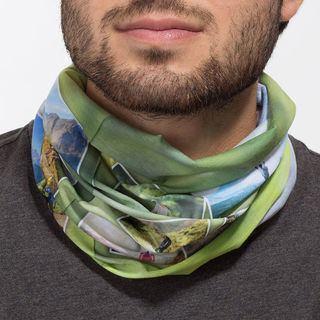 Écharpe tube personnalisée avec montage photo